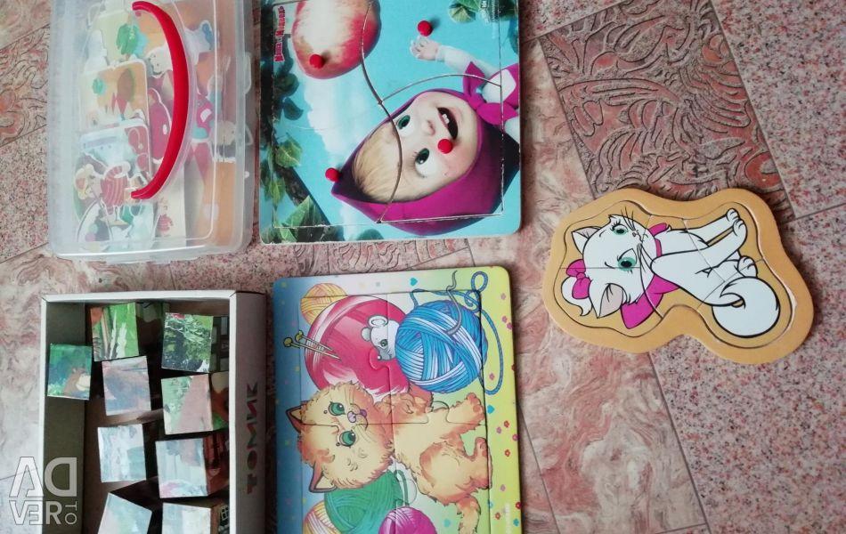 Jocuri educative, puzzle-uri, cuburi