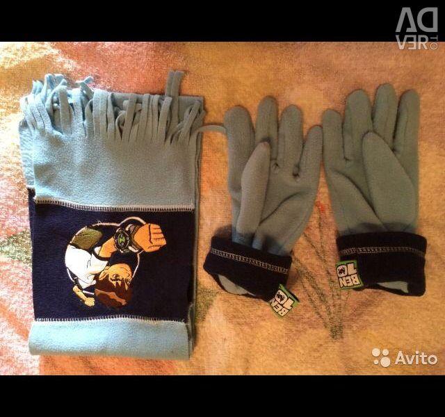 Ben Ten κασκόλ και γάντια