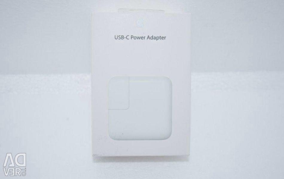 Νέα τροφοδοσία Apple 29W Macsafe USB-C φόρτιση