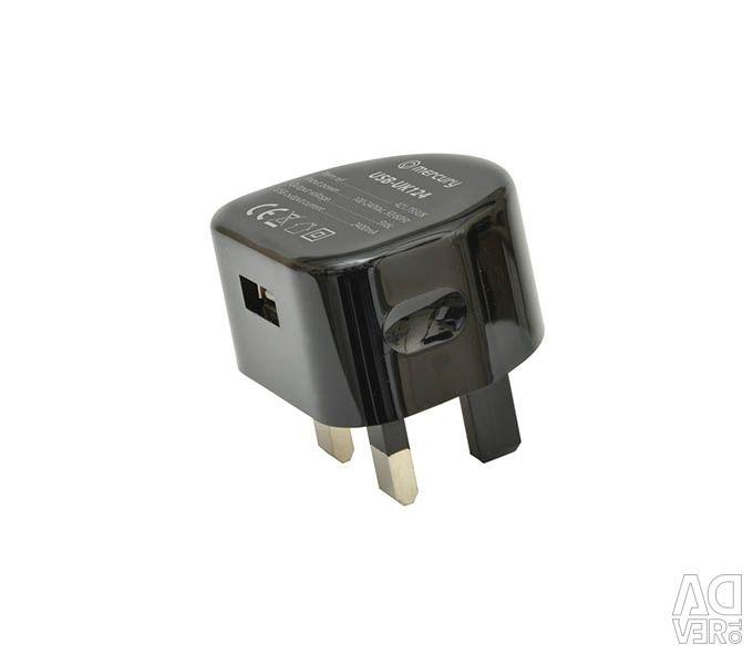 Зарядное устройство USB Mercury 2.4A 421.755UK