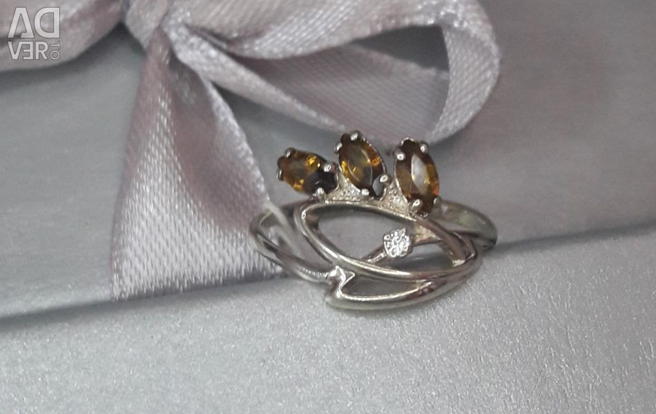 Silver ring new 15,5 size 925