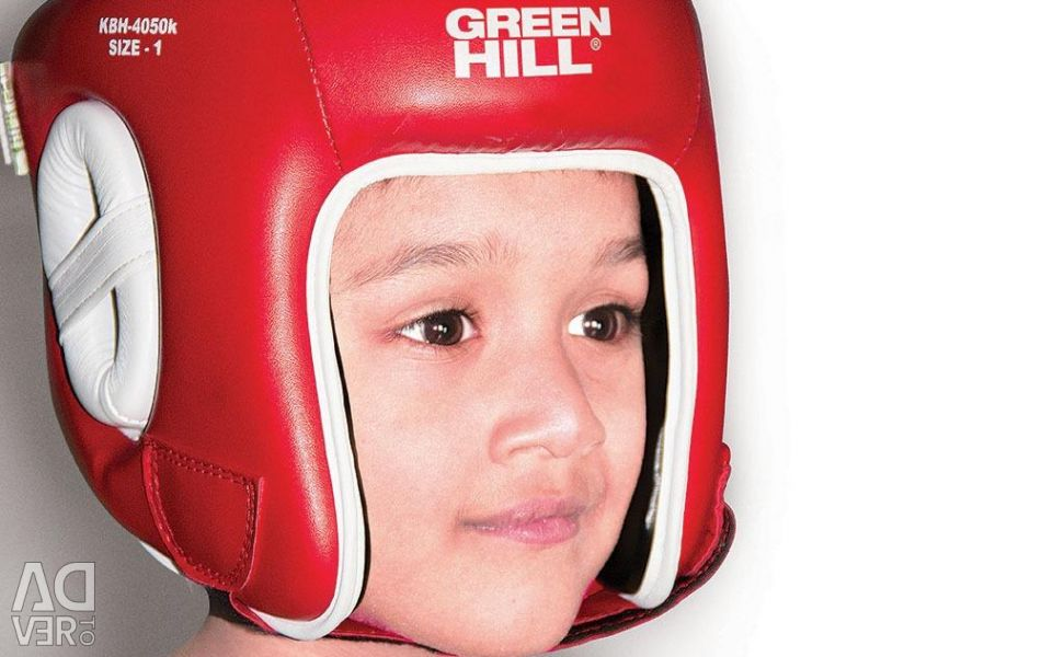KIDS BIKING HELMET GREEN HILL RED