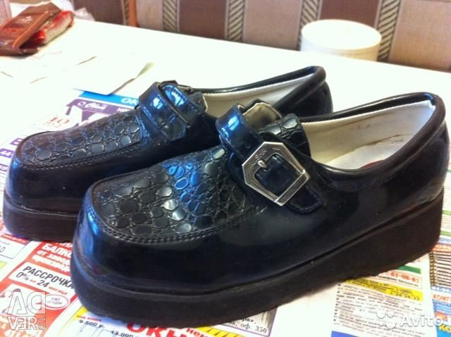 Shoes, demi-season lacquer