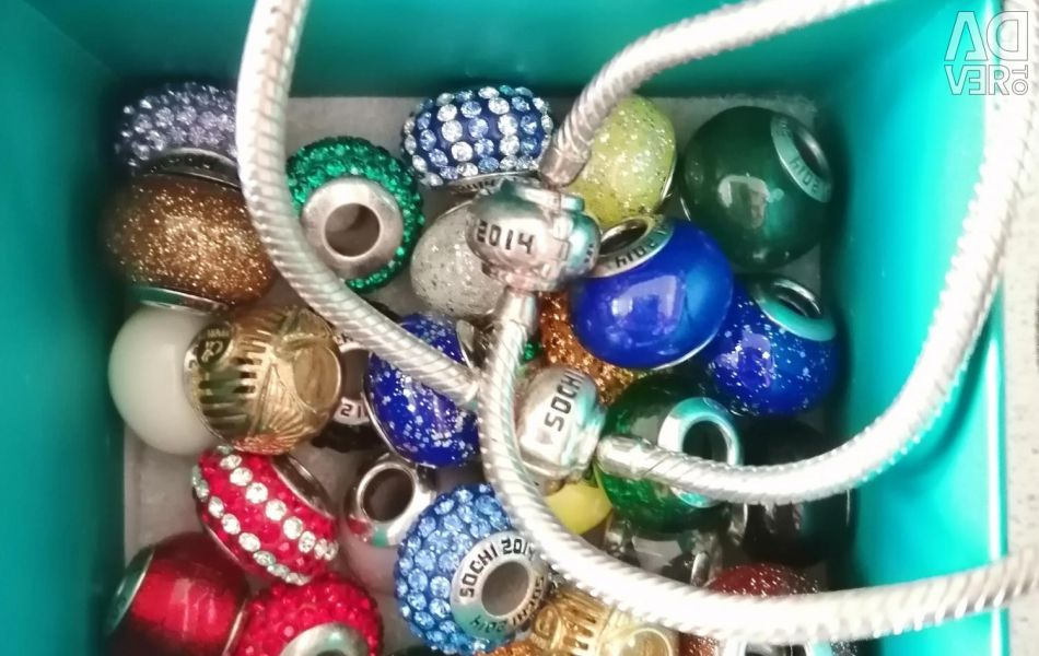 Charms and two bracelets