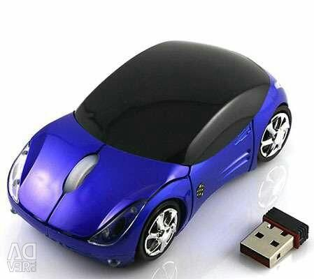 Wireless mouse in the form of cars