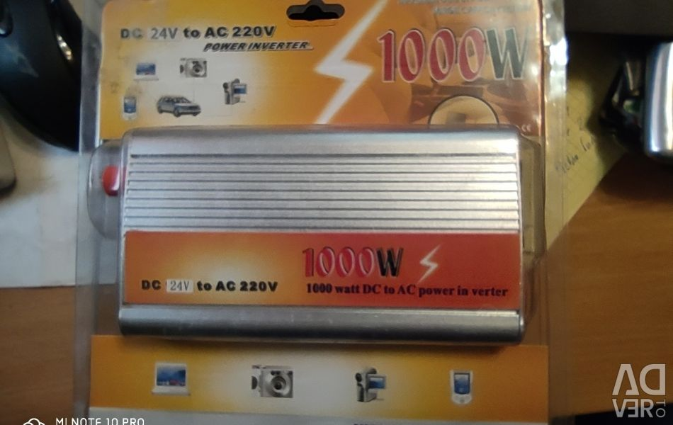 KonnWei 1000W voltage converter from 24v to