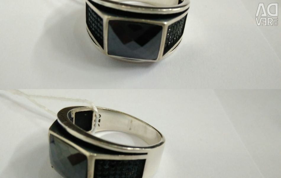 Men's silver ring