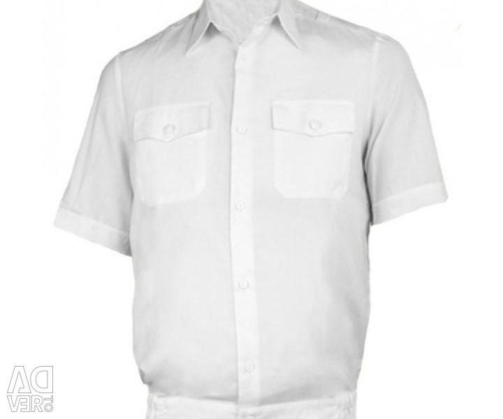 Λευκό ενιαίο πουκάμισο