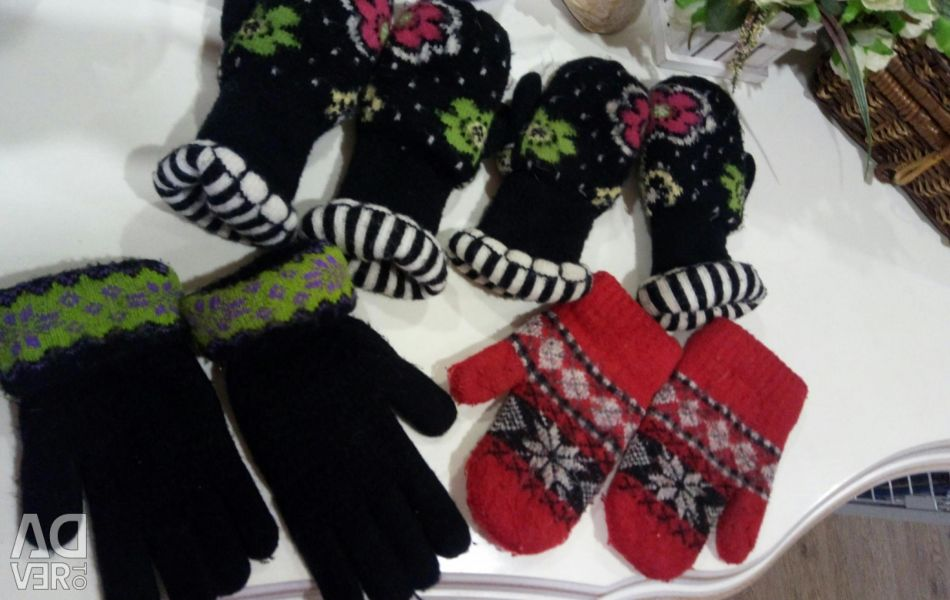 Mittens and gloves.