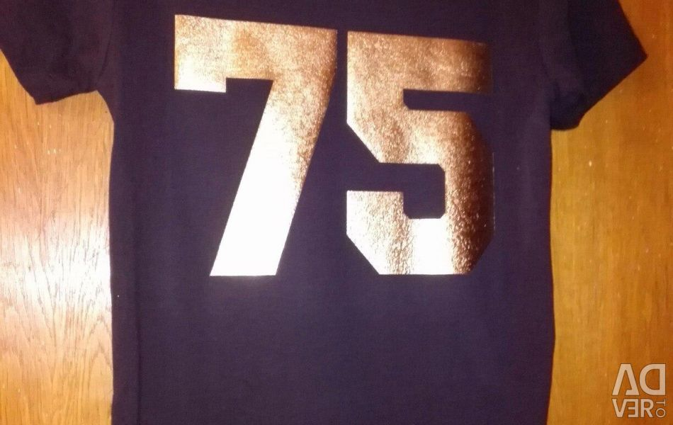 Cotton T-shirt with the name and number