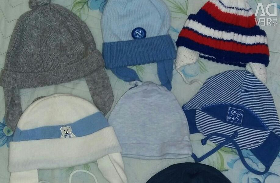 Spring hats from 0 to 7months.