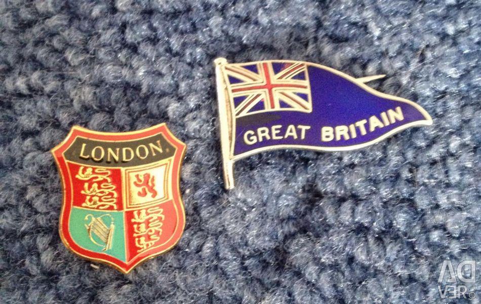 English badges