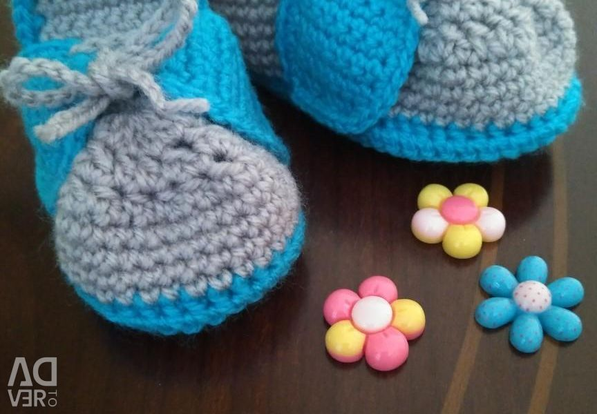 Booties knitted
