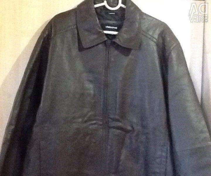 Men's leather jacket. New hl / xg