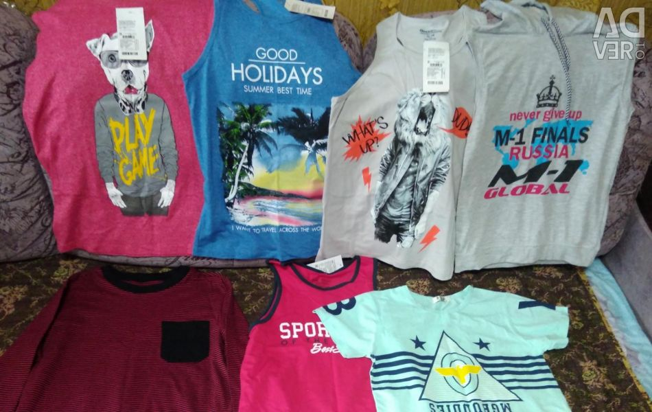 New T-shirts, T-shirts, blouses, for boy