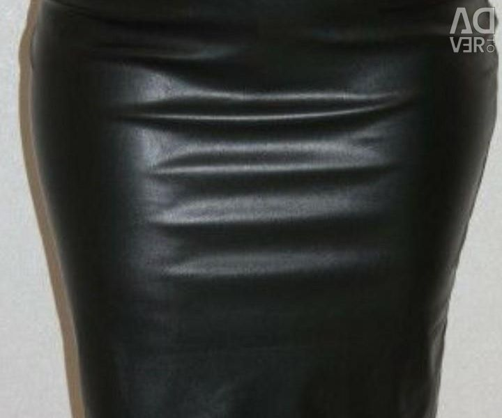 Skirt (artificial leather)