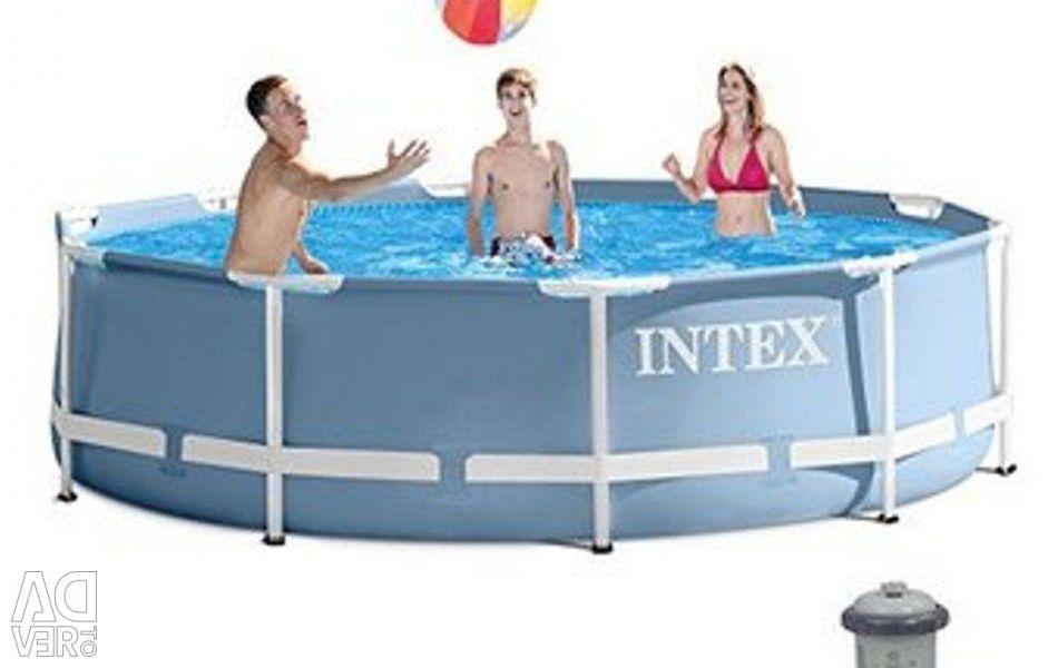Pool 366x76 cm + filter pump, 28712