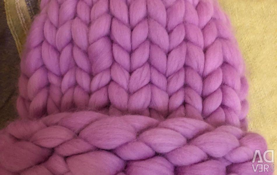 Hat made of 100% merino wool