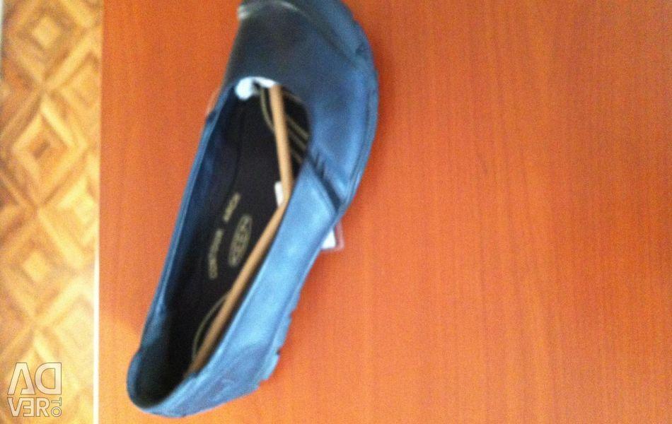 Ballet flats keen, leather