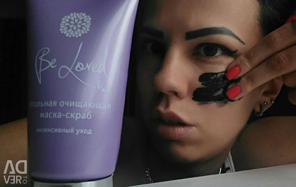 Угольная маска пилинг сыворотка косметика для лица