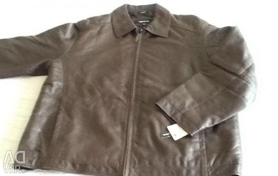 Jacket. Men's Leather Xl / xg new 140 cm obh