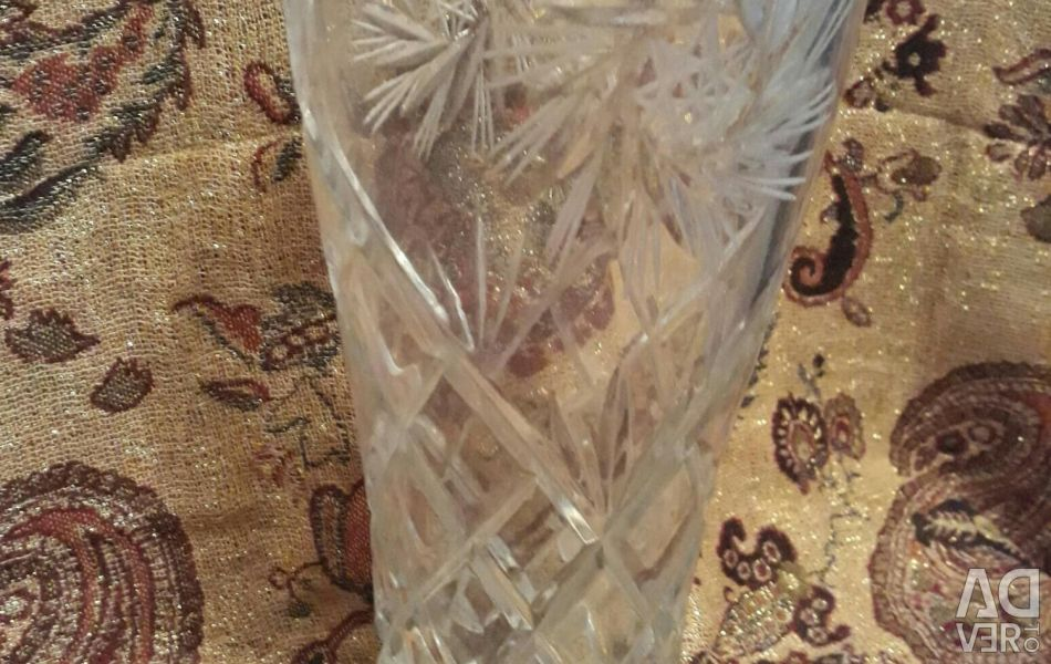 Vase crystal 26cm