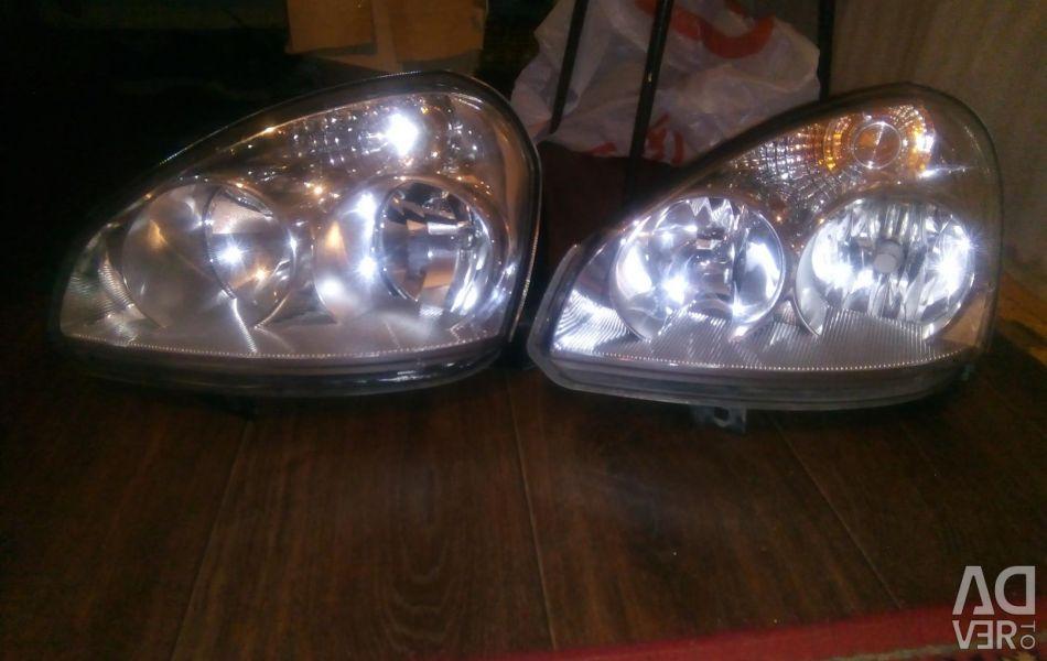 Set of headlights on Lada Priora