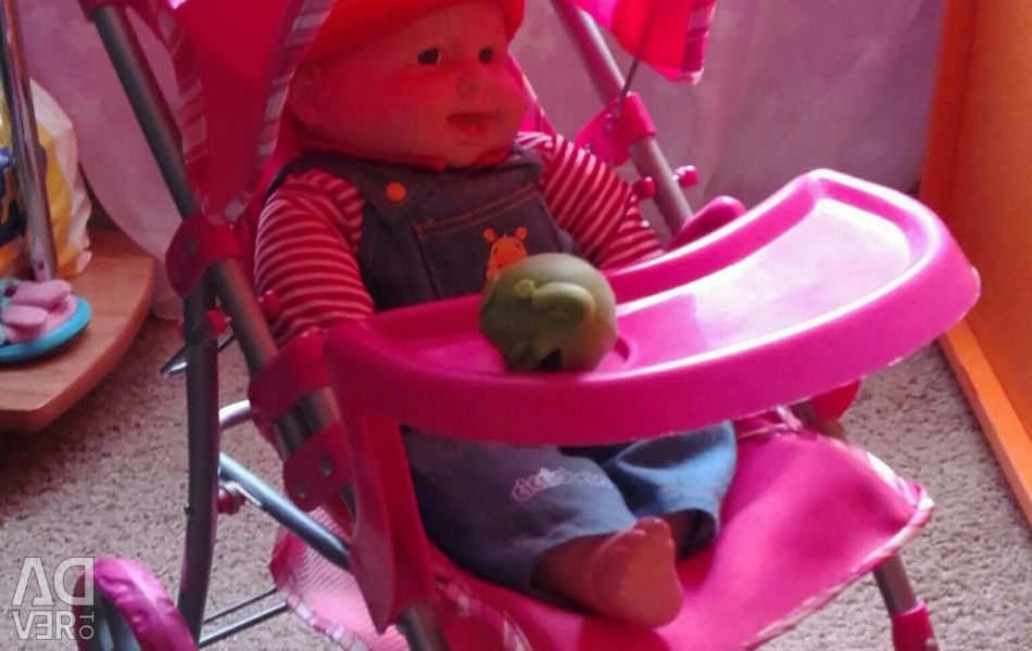 I will sell a carriage with a baby doll