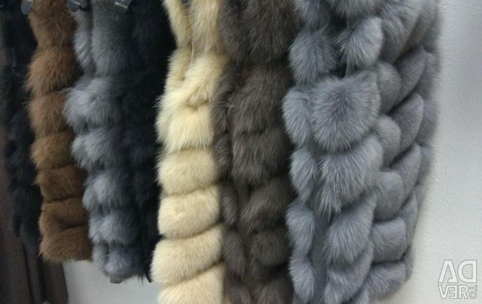 Fur vests 70 cm
