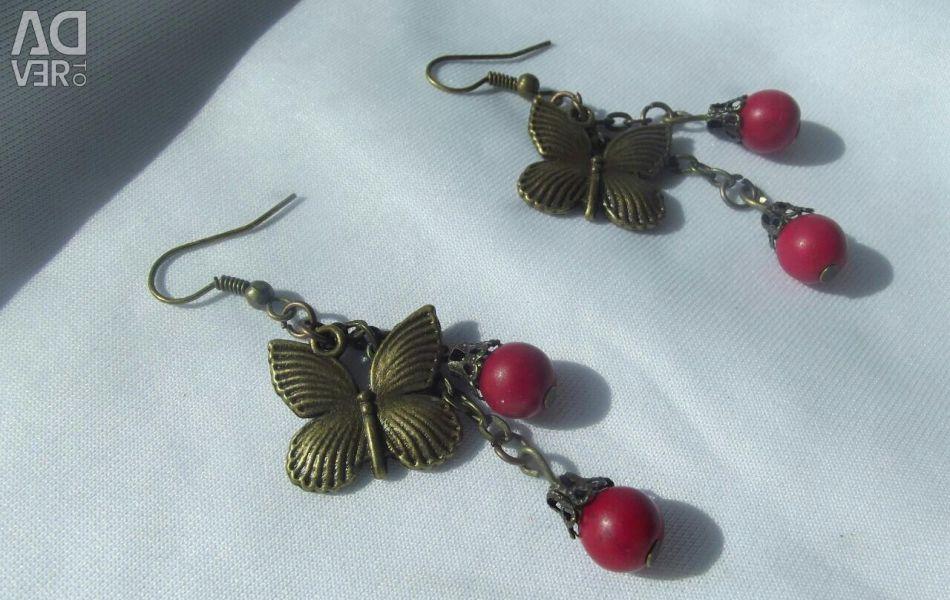Πεταλούδα σκουλαρίκια