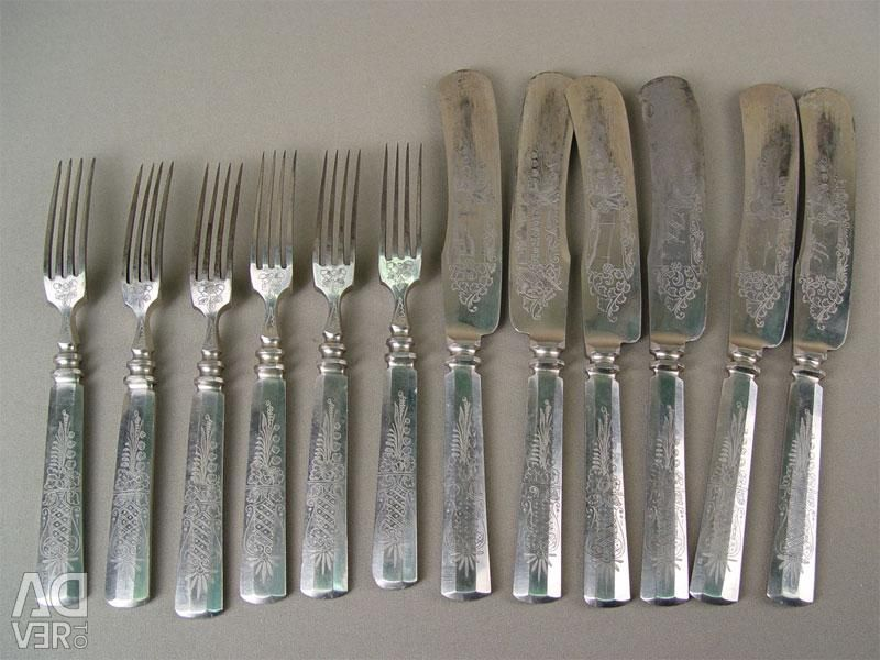 5 çatallı bıçak seti