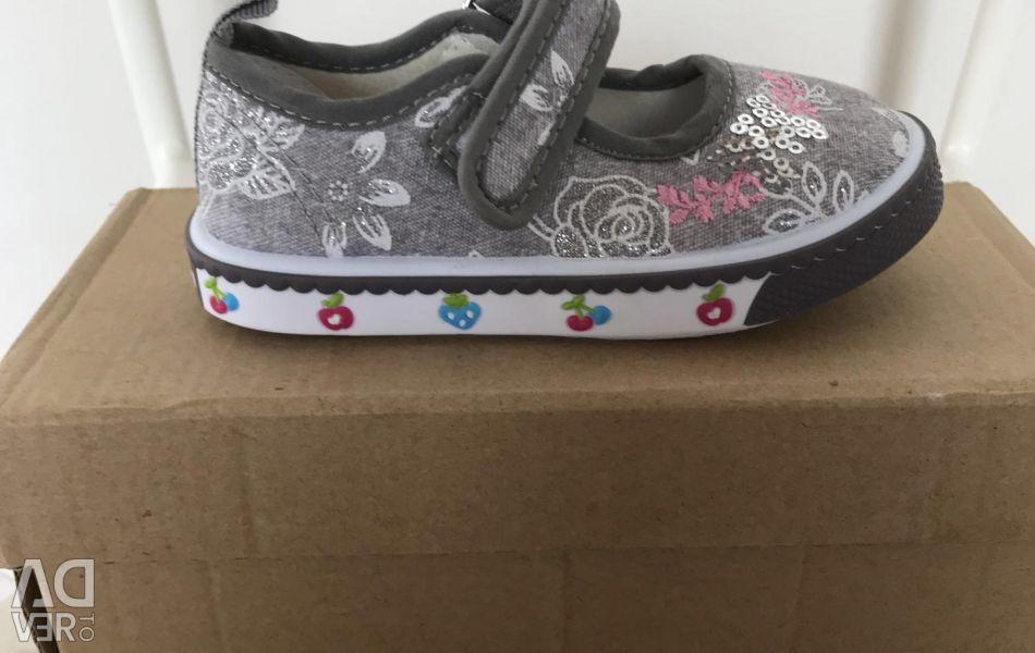 Pantofi pentru fete textile