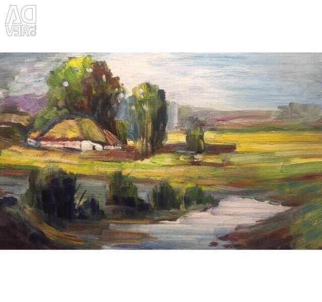 Oil painting painting