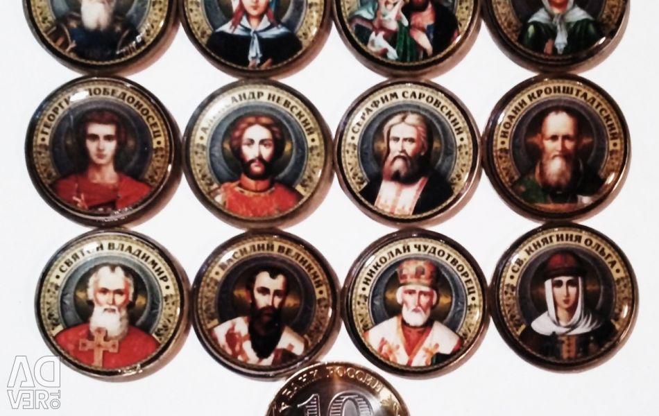 A set of souvenir coins 10 rubles