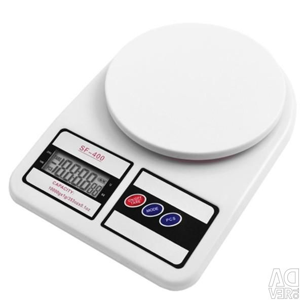 Электронные кухонные настольные весы 7 кг