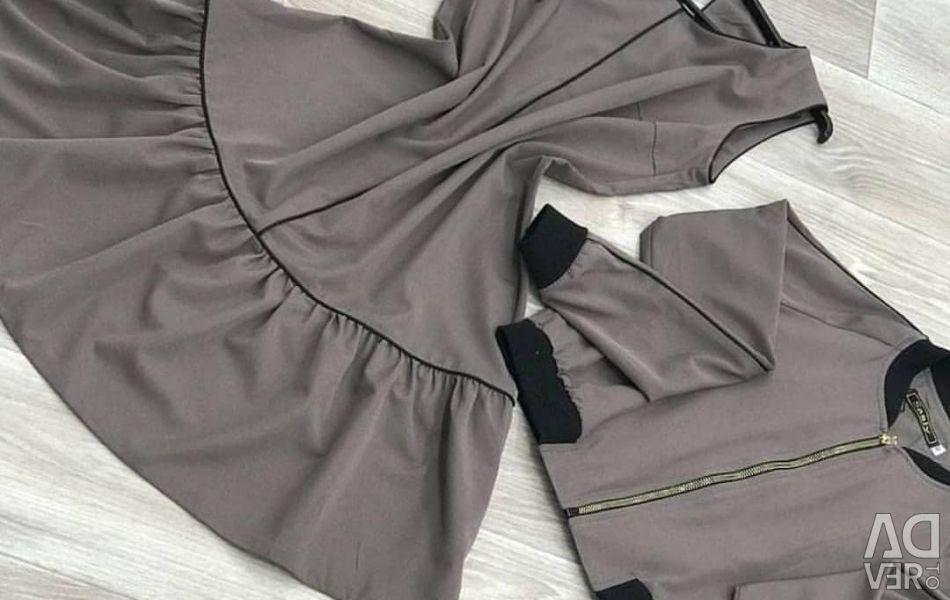Costum rochie + jacheta 42 dimensiune
