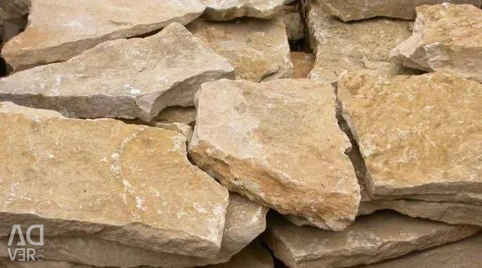 Rubble stone for the foundation