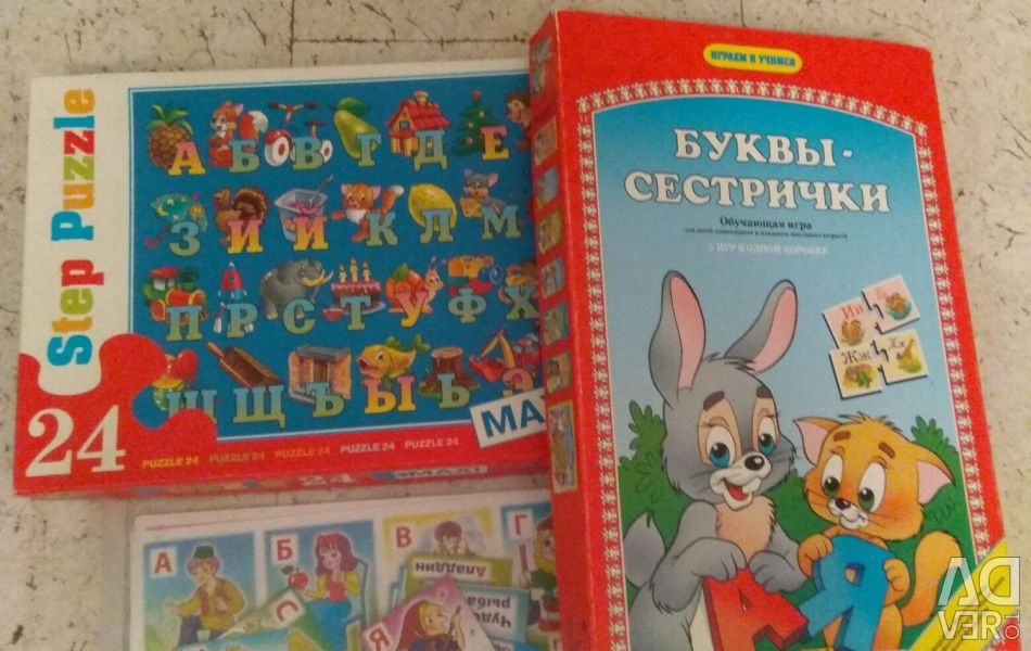 Big puzzle - alphabet, games with letters