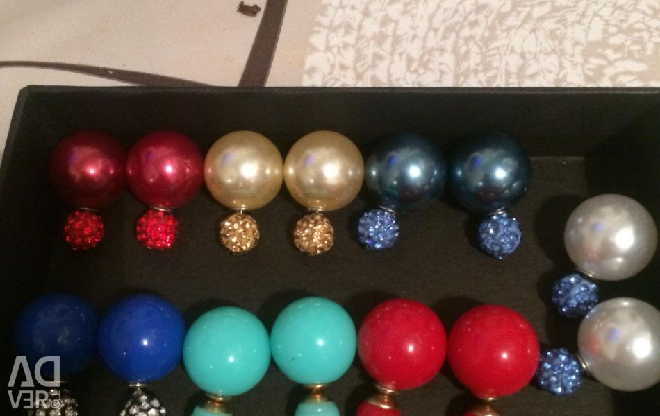 Earrings studs 7 pairs new price for everything
