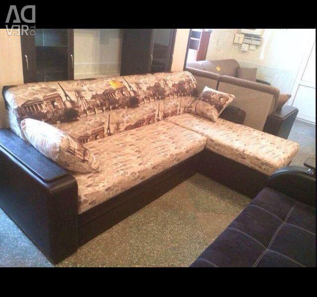 Canapea cu colțuri. Garantat.