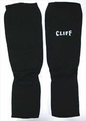 Защита голень-стопа хлопок, черная, Cl-315 CliFF