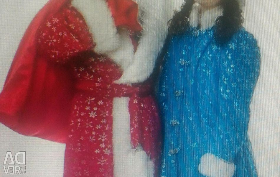 👍 Χιόνι κορίτσι κοστούμι παλτό χιόνι Maiden μπλε κάρνα