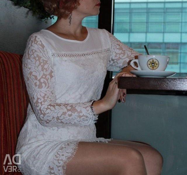 White guipure dress