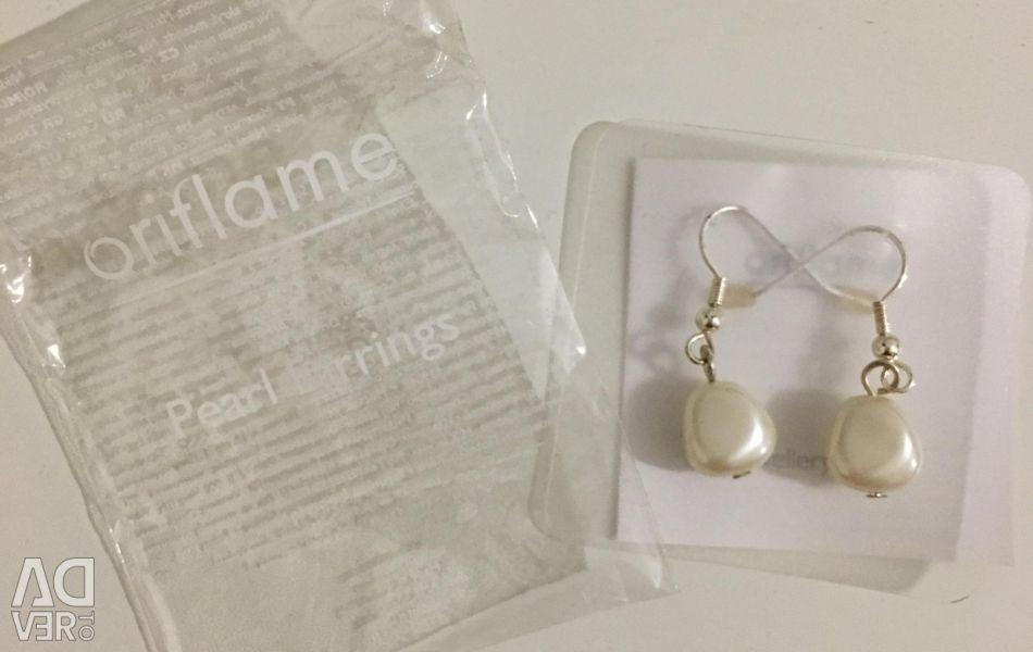Pearl earrings oriflame, new