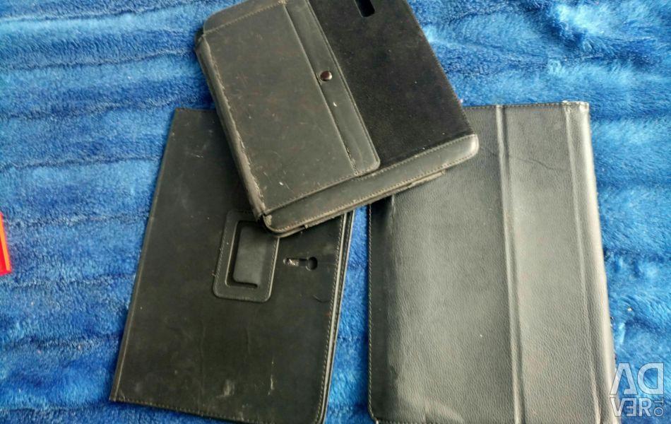 Three tablet cases