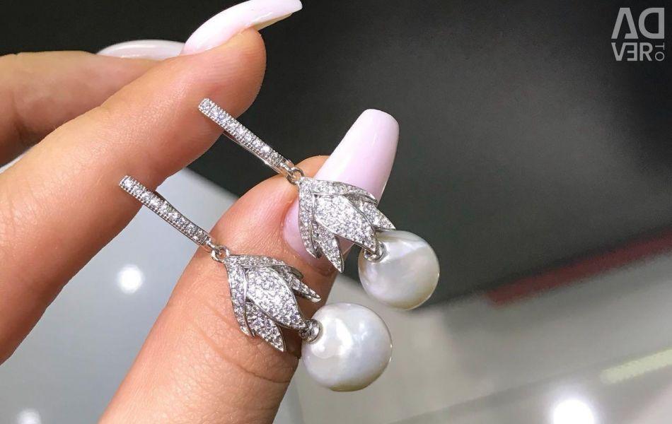 Original baroque pearl earrings