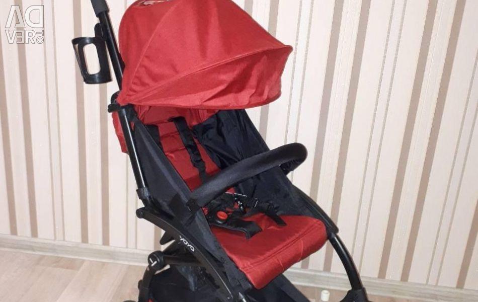 Νέο μωρό καροτσάκι χρώμα κόκκινο