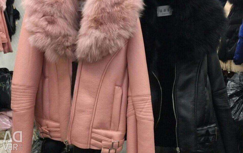 Yeni koyun derisi ceket. kış