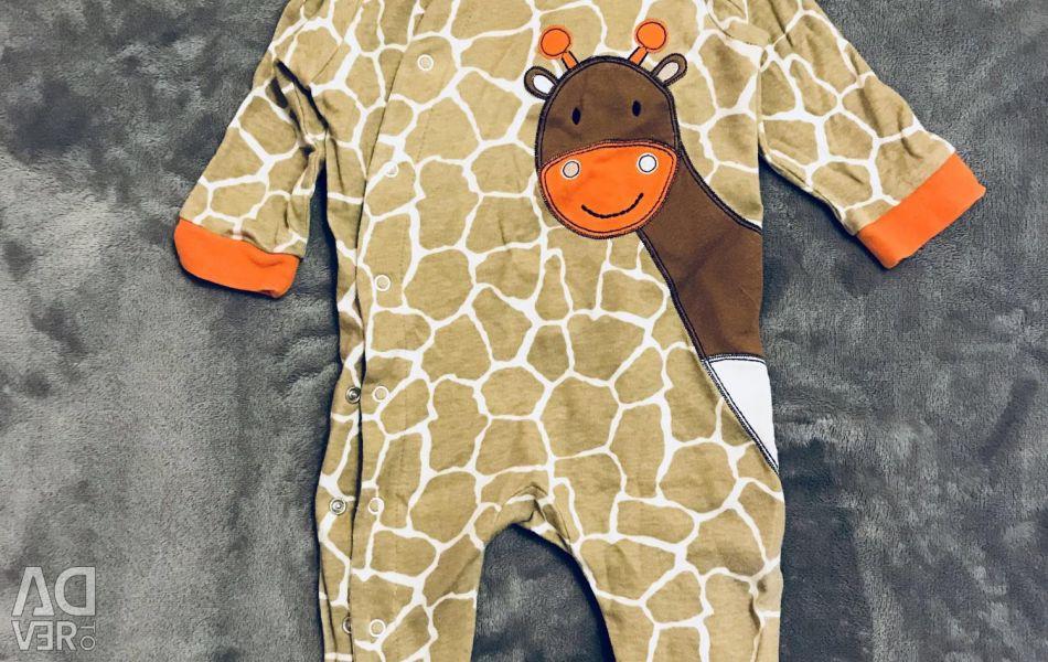 Overalls for the newborn Giraffe