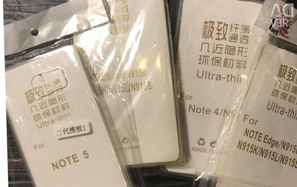 Καλύμματα από σιλικόνη για τη Samsung Note4, Note5, Σημείωση άκρη